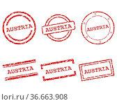 Austria Stempel - Austria stamps. Стоковое фото, фотограф Zoonar.com/Robert Biedermann / easy Fotostock / Фотобанк Лори