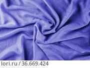 Violet draped lightweight fabric. Стоковое фото, фотограф Ольга Губская / Фотобанк Лори
