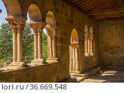 Atrium. Nuestra Señora de la Asuncion church. Jaramillo de la fuente... Стоковое фото, фотограф María Galán / age Fotostock / Фотобанк Лори