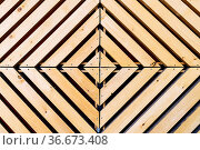 Symmetrical diamond background pattern with natural wood in concentric... Стоковое фото, фотограф Zoonar.com/Thomas Dutour / easy Fotostock / Фотобанк Лори