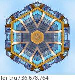 Fractal ball made from balconies and decks. Geometric kaleidoscope... Стоковое фото, фотограф Zoonar.com/Jason C. Finn / easy Fotostock / Фотобанк Лори