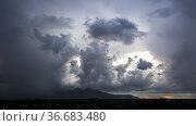 Gunung Senggi at dusk , Matang, Sarawak, East Malaysia. Стоковое фото, фотограф Chua Wee Boo / age Fotostock / Фотобанк Лори