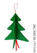 Pine tree Christmas ornaments isolated on white background. 3D illustration... Стоковое фото, фотограф Zoonar.com/Cigdem Simsek / easy Fotostock / Фотобанк Лори