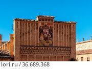 Toledo, Spain - December 6, 2019: Old heraldic shield of the Empire... Стоковое фото, фотограф Zoonar.com/@jjfarquitectos / age Fotostock / Фотобанк Лори