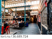 Berlin, Germany - July 29, 2019: Markthalle Neun, Market Hall Nine... Стоковое фото, фотограф Zoonar.com/@jjfarquitectos / age Fotostock / Фотобанк Лори