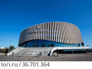Copenhagen, Denmark - May 23, 2018: Royal Arena, a new multi-use ... Стоковое фото, фотограф Zoonar.com/Oliver Foerstner / age Fotostock / Фотобанк Лори