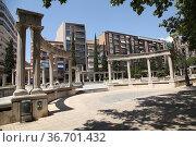 Paseo de San Gregorio, Puertollano, Ciudad Real, Spain. Стоковое фото, фотограф Luis Fidel Ayerves / age Fotostock / Фотобанк Лори
