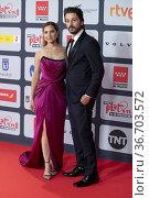 Diego Luna attends to Red Carpet of Platino Awards 2021 photocall... Редакционное фото, фотограф NACHO LOPEZ / age Fotostock / Фотобанк Лори