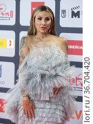 Daniela Santiago attends to Red Carpet of Platino Awards 2021 photocall... Редакционное фото, фотограф NACHO LOPEZ / age Fotostock / Фотобанк Лори