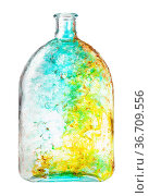 Glass painting - hand painted glass flask isolated on white background. Стоковое фото, фотограф Zoonar.com/Valery Voennyy / easy Fotostock / Фотобанк Лори