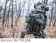 Jagdkommando soldier Austrian special forces equipped with Steyr assault... Стоковое фото, фотограф Oleg Zabielin / easy Fotostock / Фотобанк Лори