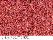 Food background - red ground sumac spice. Стоковое фото, фотограф Zoonar.com/Valery Voennyy / easy Fotostock / Фотобанк Лори