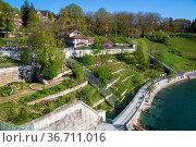 Bern, Switzerland - April 13, 2017: The bear park next to the river... Стоковое фото, фотограф Zoonar.com/Oliver Foerstner / easy Fotostock / Фотобанк Лори
