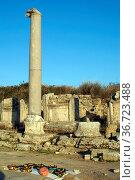 Columns and ruins of Perge, Turkey. Стоковое фото, фотограф Zoonar.com/Valeriy Shanin / age Fotostock / Фотобанк Лори