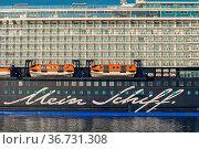 Bremerhaven, Germany - September 15, 2020: Cruise ship Mein Schiff... Стоковое фото, фотограф Zoonar.com/Oliver Foerstner / age Fotostock / Фотобанк Лори