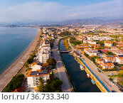 Aerial view of Fethiye cityscape along Aegean shoreline, Turkey. Стоковое фото, фотограф Яков Филимонов / Фотобанк Лори