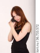Girl with a pet rat. Стоковое фото, фотограф Argument / Фотобанк Лори