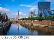 """Speicherstadt, Hamburg, Germany, Europe"" Редакционное фото, агентство Caro Photoagency / Фотобанк Лори"