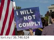 St. Paul, Minnesota, Stop the mandate protest, Protest to stop vaccine... (2009 год). Редакционное фото, фотограф Michael Siluk / age Fotostock / Фотобанк Лори
