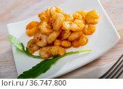 Delicious grilled peeled shrimps. Стоковое фото, фотограф Яков Филимонов / Фотобанк Лори