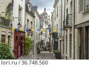 Gasse in der Altstadt und Tour Saint-Antoine in Loches, Loire-Tal... Стоковое фото, фотограф Peter Schickert / age Fotostock / Фотобанк Лори