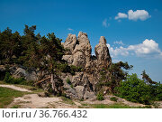 Teufelsmauer Harz Timmenrode. Стоковое фото, фотограф Zoonar.com/Daniel Kühne / age Fotostock / Фотобанк Лори