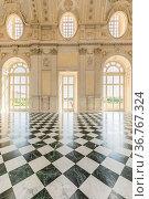 VENARIA REALE, ITALY - CIRCA MAY 2021: corridor with floor made of... Стоковое фото, фотограф Zoonar.com/Paolo Gallo / easy Fotostock / Фотобанк Лори