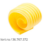 Butter curl or roll isolated on white. Стоковое фото, фотограф Zoonar.com/Max Tat / easy Fotostock / Фотобанк Лори