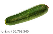 Ripe green zucchini vegetable isolated on white background. Стоковое фото, фотограф Zoonar.com/Valery Voennyy / easy Fotostock / Фотобанк Лори