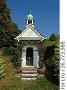 Private Kapelle bei Kitzeck, Weinregion, Südsteiermark, Steiermark... Стоковое фото, фотограф Zoonar.com/Günter Lenz / age Fotostock / Фотобанк Лори