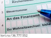 Finanzamt Steuererklärung einreichen. Стоковое фото, фотограф Zoonar.com/stockfotos-mg / easy Fotostock / Фотобанк Лори