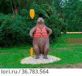 Instructor kayaking, rafting, beaver camping in city horse taxi takes... Стоковое фото, фотограф Zoonar.com/NadyZima_klgd / age Fotostock / Фотобанк Лори
