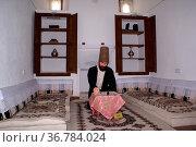 Dervish in Mevlana mosque in Afyon, Turkey. Стоковое фото, фотограф Zoonar.com/Valeriy Shanin / age Fotostock / Фотобанк Лори