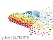 Regenbogen Herz hergestellt aus Strass. Стоковое фото, фотограф Zoonar.com/Ulrich Schade / easy Fotostock / Фотобанк Лори