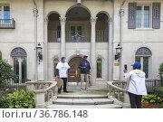 Detroit, Michigan USA - 16 October 2021 - Anthony Adams, campaigning... Стоковое фото, фотограф Jim West / age Fotostock / Фотобанк Лори