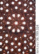 Wooden wall in mosque, Manisa, Turkey. Стоковое фото, фотограф Zoonar.com/Valeriy Shanin / age Fotostock / Фотобанк Лори