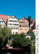Aufnahme in der Tübinger Altstadt. Стоковое фото, фотограф Zoonar.com/cleo / easy Fotostock / Фотобанк Лори