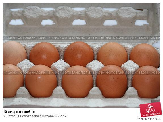 10 яиц в коробке, фото № 114040, снято 8 ноября 2007 г. (c) Наталья Белотелова / Фотобанк Лори