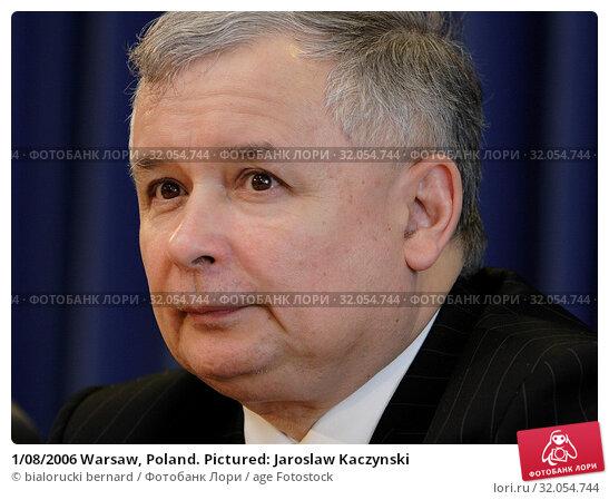 1/08/2006 Warsaw, Poland. Pictured: Jaroslaw Kaczynski. Редакционное фото, фотограф bialorucki bernard / age Fotostock / Фотобанк Лори