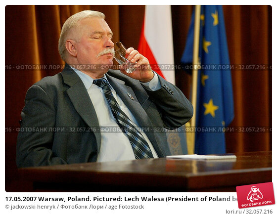 17.05.2007 Warsaw, Poland. Pictured: Lech Walesa (President of Poland between 1990 and 1995, Nobel Prize in 1983) Редакционное фото, фотограф jackowski henryk / age Fotostock / Фотобанк Лори