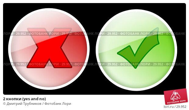 Купить «2 кнопки (yes and no)», иллюстрация № 29952 (c) Дмитрий Трубников / Фотобанк Лори