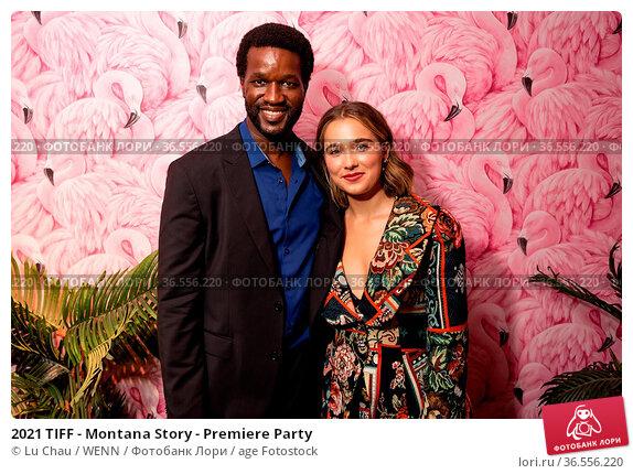 2021 TIFF - Montana Story - Premiere Party. Редакционное фото, фотограф Lu Chau / WENN / age Fotostock / Фотобанк Лори