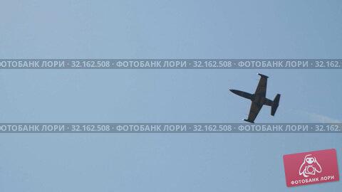 Купить «29 AUGUST 2019 MOSCOW, RUSSIA: A blue and yellow reactive plane flying in the blue sky», видеоролик № 32162508, снято 18 сентября 2019 г. (c) Константин Шишкин / Фотобанк Лори