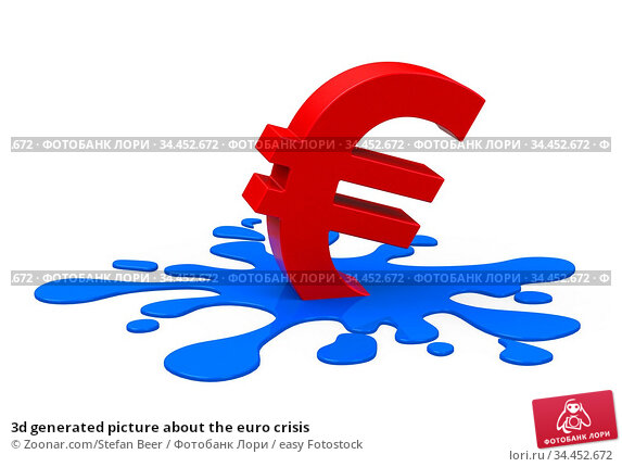 3d generated picture about the euro crisis. Стоковое фото, фотограф Zoonar.com/Stefan Beer / easy Fotostock / Фотобанк Лори