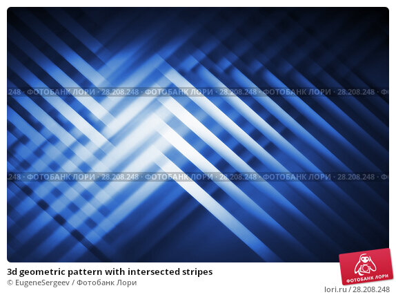 Купить «3d geometric pattern with intersected stripes», иллюстрация № 28208248 (c) EugeneSergeev / Фотобанк Лори
