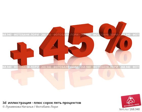 3d  иллюстрация - плюс сорок пять процентов, иллюстрация № 268940 (c) Лукиянова Наталья / Фотобанк Лори
