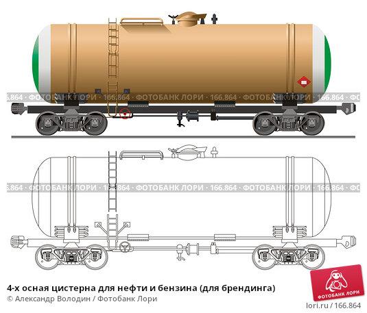 4-х осная цистерна для нефти и бензина (для брендинга), иллюстрация № 166864 (c) Александр Володин / Фотобанк Лори