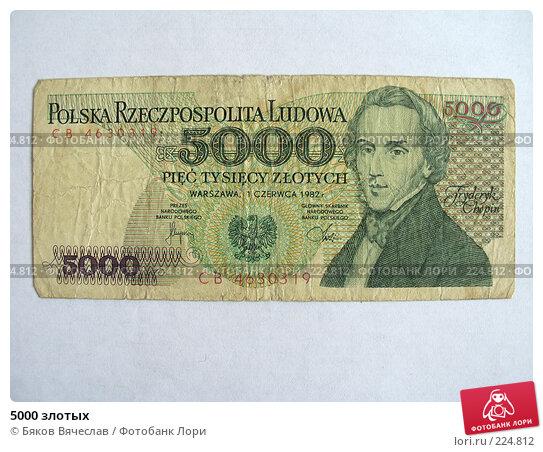 5000 злотых, фото № 224812, снято 30 января 2008 г. (c) Бяков Вячеслав / Фотобанк Лори
