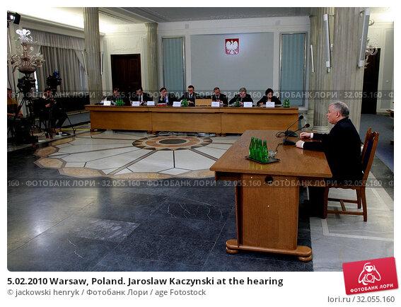 5.02.2010 Warsaw, Poland. Jaroslaw Kaczynski at the hearing. Редакционное фото, фотограф jackowski henryk / age Fotostock / Фотобанк Лори