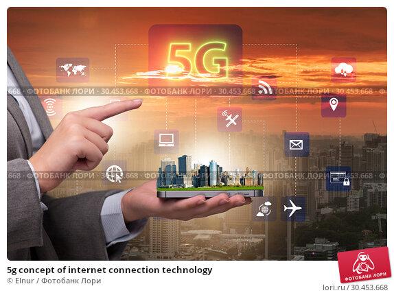 5g concept of internet connection technology. Стоковое фото, фотограф Elnur / Фотобанк Лори